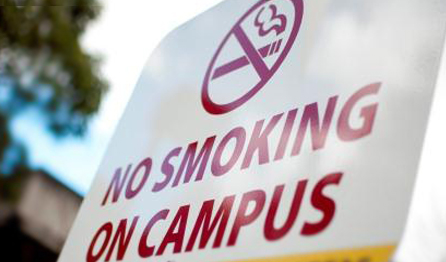 No smoking on campus