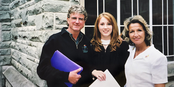 Shannon Proudfoot and parents