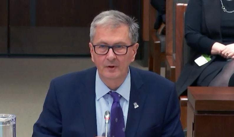 Western president Alan Shepard speaks in federal pre-budget talks