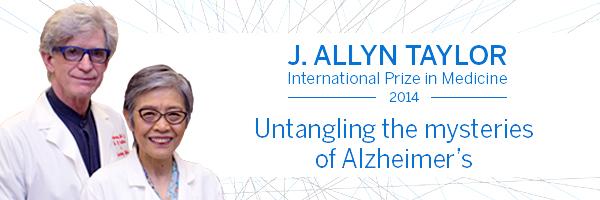 2014 J. Allyn Taylor International Prize in Medicine recipients