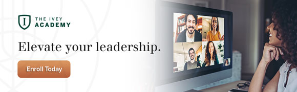The Ivey Academy: Elevate Your Leadership. Enroll today!