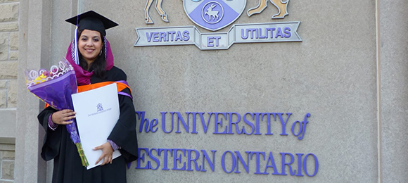 Madiha Salman earned her master's degree in engineering science from Western in 2012 and was working towards her doctorate in civil engineering