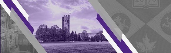 University College with a purple overlay