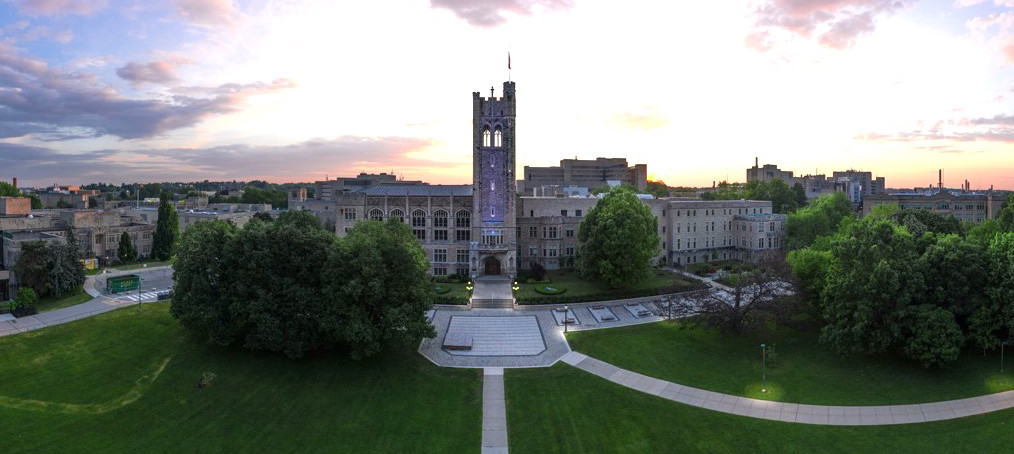 The view of University College taken from a drone